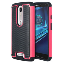 Funda Doble Case Protector Uso Rudo Moto X Force Xt1058 Rosa
