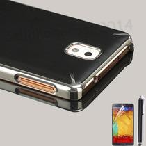 Samsung Galaxy Note3 Tapa Trasera Metal Cromado Mica+stylus