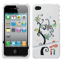Funda Protector 2 Piezas Iphone 4g/4s Arbol De Flores