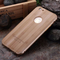 Bumper Aluminio Case Iphone 6 6s Y Plus Tipo Madera Dorado