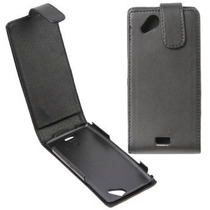 Sony Xperia Arc X12 Lt15 Funda Flip Cover Vertical Negro