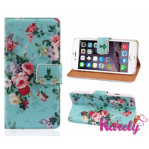 Funda Iphone 6 Cartera Estilo Floreado Vintage Importado