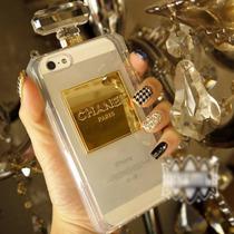 Funda Iphone 6 6s Perfume Botella Chanel Cadena Brillos