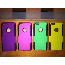 Case 2 En 1 Apple Iphone 6 Plus + Mica Y Paño Gratis