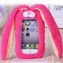 Hermosa Funda De Conejo De Peluche Para Iphone 5/5s