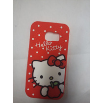 Funda Goma Botarga 3d Hello Kitty Samung S6 Edge