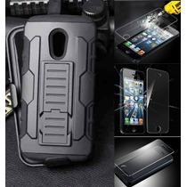 Kit Protector Uso Rudo Más Cristal Templado Nokia 435