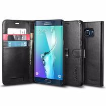 Funda Case Wallet Stand Spigen Samsung Galaxy S6 Edge Plus +