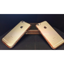 Funda Lujo Iphone 6 6s Dorada + Vidrio Templado