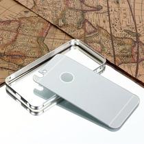 Iphone 6s/6 Bumper De Lujo Metal Cromado Tapa Trasera+mica
