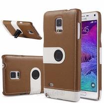 Samsung Galaxy Note 4 Funda En Piel Sujetador De Carro+mica