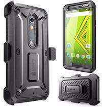 Motorola Moto X Play Case Funda Supcase Con Clip Uso Rudo