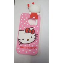 Protector Goma Botarga 3d Hello Kitty Samsung 6 Edge