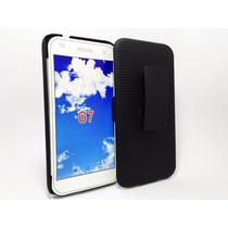 Huawei G7 L03 Clip Combo + Cristal Templado 9h Holster Mica