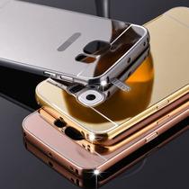 Funda Bumper Galaxy S6 Edge Plus Aluminio Espejo+mica Crista