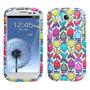 Funda Protector Samsung Galaxy Siii Blanco Flores Colores