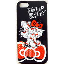 Protector Para Iphone 5/5s Hello Kitty Color Negro.