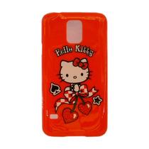 Funda Protector Mobo Samsung Galaxy S5 Hello Kitty Rojo Cher