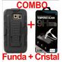 Combo Protector Uso Rudo Resistente Y Mica Glass Lg Pro Lite