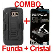 Combo Protector Uso Rudo Resistente Y Mica Glass Lg Max