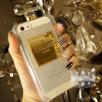 Funda Iphone 4 5s 5c 6 Y Plus Perfume Botella Chanel Cadena