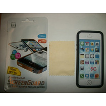 Kit 3x1 Silicon+ Mica Matte+ Paño Iphone 5g!!!