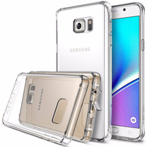 Funda Case Ringke Galaxy Note 5 Transparente Bumper + Micas