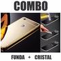 Combo Funda Case Aluminio Y Cristal Huawei G Play Mini
