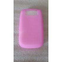 10x1 Cover De Silicón Para Blackberry 9630 Y 9650 Color Rosa