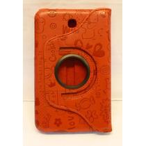 Funda Giratoria Samsung Galaxy Tab 3 7 Pulgadas Rojo