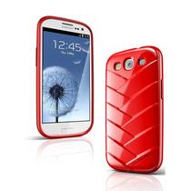 Musubo Momia Caso Para Samsung Galaxia S3 (rojo)