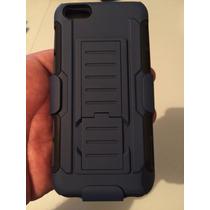 Funda Clip Uso Rudo Hibrido 3 En 1 Iphone 6 - 6s Azul