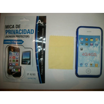 Kit 3x1 Tpu+ Mica Privacidad+ Paño Iphone 4s!!!