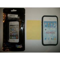 Kit 3x1 Silicon+ Mica+ Paño Iphone 4g!!!