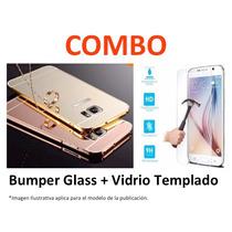 Protector Aluminio Con Espejo + Vidrio Templado Sam Note 2