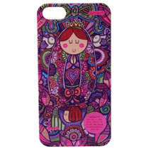 Funda Rigida Distroller Hc Virgen Morado Iphone 5 Ginga