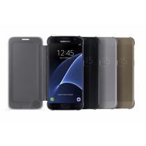 Galaxy S7 Case Sview Clear Flip Cover Samsung Funda Origina