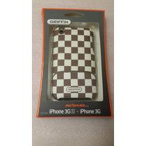 Case Plástico Iphone 3g Y Iphone 3gs A Cuadros Café Y Negros