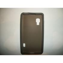 Protector Silicon Case Lg Optimus L5x Color Humo!
