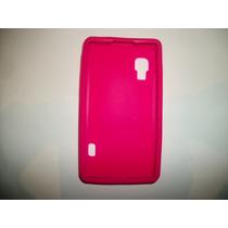 Protector Silicon Case Lg Optimus L5x Color Rosa!