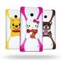 Funda Bumper 3d Universal Para Celular Kitty Minions Minnie