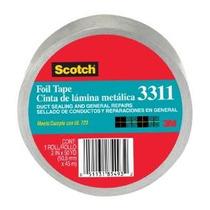 Scotch Papel De Aluminio Cinta De 3311 De Plata, 2 De X 10 M