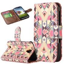 Samsung Galaxy S4 Funda En Piel Cartera Correa De Mano+pluma