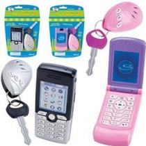 Lets Go Set: Gris Teléfono Juego Celular Y Alarma Gris Llave