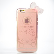 Funda Hello Kitty Rosa Oro Con Moño 3d Para Iphone 6 6s