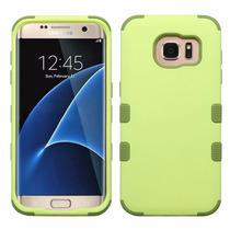 Funda Doble Case Uso Rudo Samsung Galaxy S7 Edge Verde Olivo