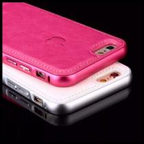 Funda Lujo Piel Apple Bumper Aluminio Iphone 6 6s 6 Plus