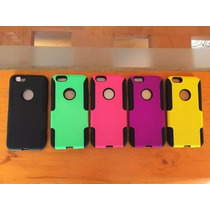 Funda Case 2 En 1 Apple Iphone 6 + Mica Y Paño Gratis