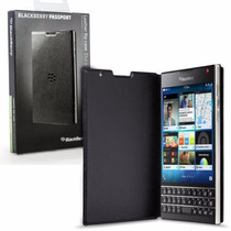 Funda Original Flip Folder Para Blackberry Passport (negro)