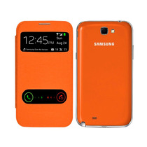 Samsung Galaxy Note 2 N7100 Flip Cover S View Naranja